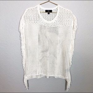 Mossimo Knit Sweater With Fringe Detail